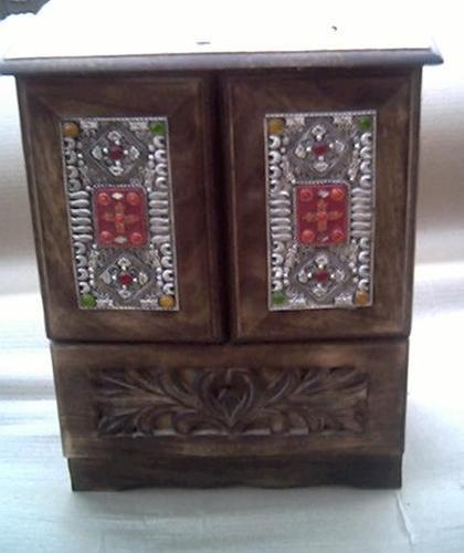 Wooden Handicrafts Items Wooden Carved Cabinets Exporter From