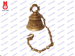 Temple Bell Durga Design Carved