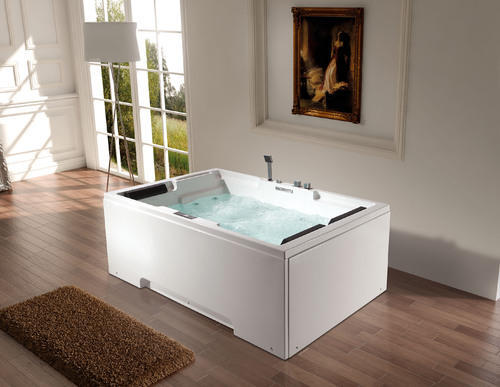 Waterfall Tubs Rectangular Twin Seater Whirlpool Bathtub
