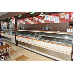 Rectangular Chaat Display Counter, for Sancks & Sweet