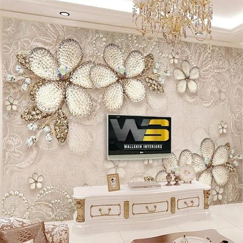 Living Room Wallpaper Hd Floral Wallpaper Manufacturer From Hyderabad