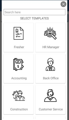 android application development easy resume app it technology