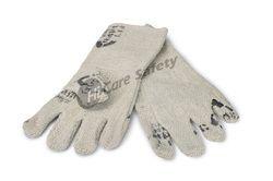 White Full Sleeves Asbestos Hand Gloves