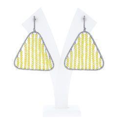 925 Silver Yellow Beads Earrings
