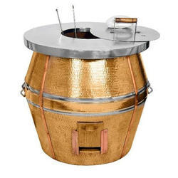 Copper Hammered Commercial Tandoor