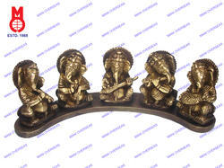 Ganesh Musical Set Sitting On Plate
