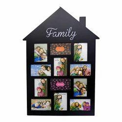 Hut Shape Black Look Multi Photo Frame Decorative Gift Item