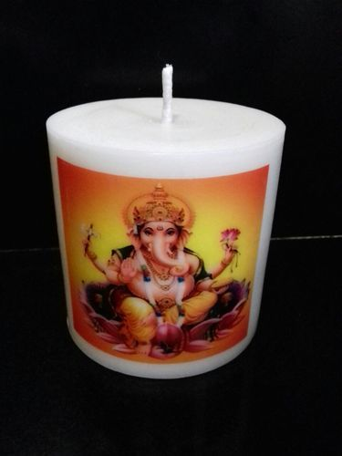 personalized candles personalised candles 3x3 ganapati