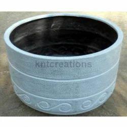 Round Stone Garden Pot