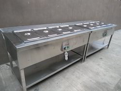 Hot Bain Marie with Tray Rest Rail