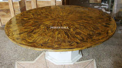 Tiger Eye Round Table Top