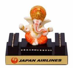 Table Top Wooden Base Ganesha Statue