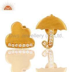 Handmade Gold Plated Fashion Stud Earrings