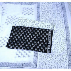 Hand Block Black and White Suits
