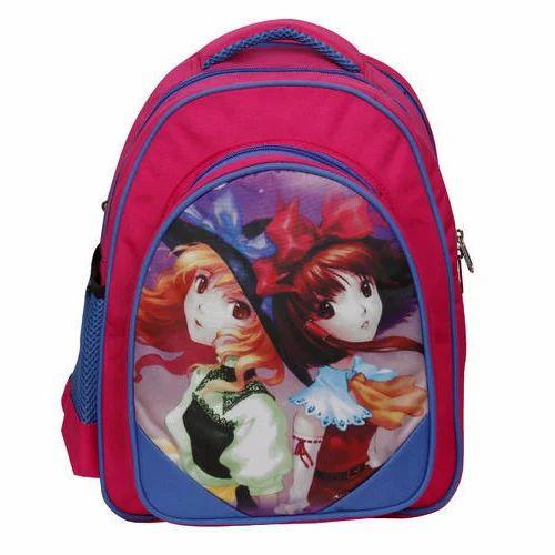 eb318bd1be4 ... Smily Kiddos Fantasy Pink Foldover Backpack from Delhi. Request  Callback. Digital Baby Doll Pink Color Kid School Bag