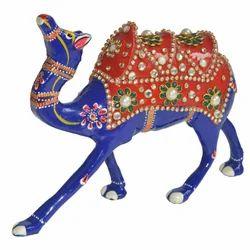 Meena Metal Katidar Camel With Stone Work