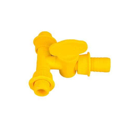 Yellow With Valve Tee Connector