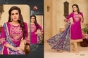 Round Neck 3/4 Sleeve Moof Salwar Suit Fabric