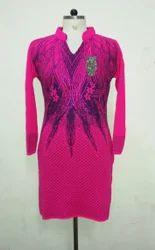 Embroidered Woolen Kurta