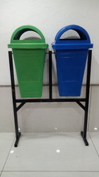 Twin Dustbin with Stand