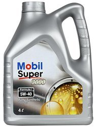 Mobil Super 3000 Formula I 5W-40 - Premium Fully Synthetic Passenger Vehicle Engine Oil