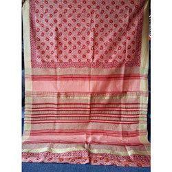 Hand Block Print Chanderi Silk Sarees