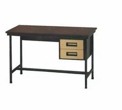 Two Drawer Metal Table