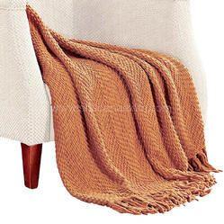 Cotton Handwoven Chevron Throws Blanket