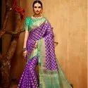 Fancy Soft Cotton  Weaving Silk Saree