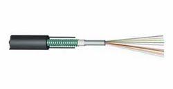Armoured Fiber Optic Cable, 4 Core, Unitube, Single Mode
