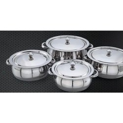 Jumbo Arjuna Pot Stainless Steel Handi Set