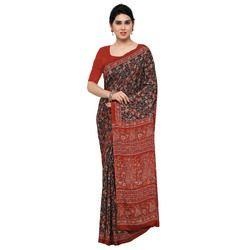 Stylish Crepe Silk Printed Saree