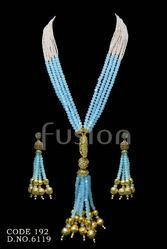 Traditional Antique Beaded Necklace Set
