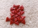 Triangle Red Moonga Gemstone