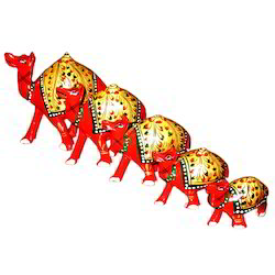 Wooden Camel Painted Set