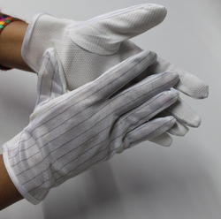ESD PVC Dotted Strips Gloves