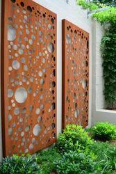 Corten steel decorative walls