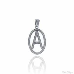 Pave Diamond Initial A Pendant