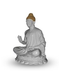 Gautam Buddha Sitting Pose White
