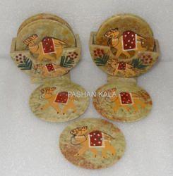 Soapstone Painted Tea Coaster