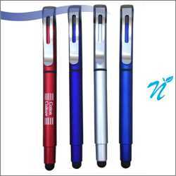 Plastic Roller Pen with Stylus