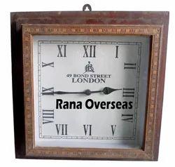 Antique Wooden Square Clock