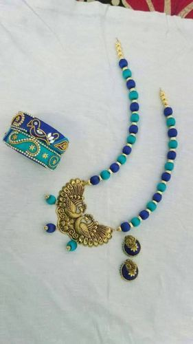 Silk Thread Jewellery (Necklace, Earrings & Bangles)
