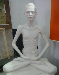 Shrimad Rajchandra Marble Statue