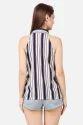 Stripe Halter Western Ladies Top
