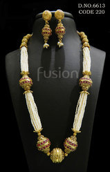 Pearl Beaded Antique Necklace Set