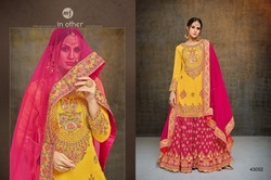 Full Sleeve Round Neck Sarara Salwar Suit