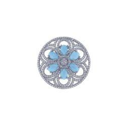 Turquoise Gemstone Diamond Ring