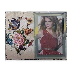 Rectangular Flower Print Photo Frame