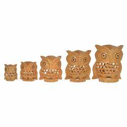 Wooden Undercut Owl Set